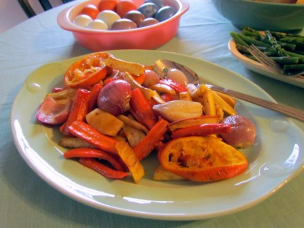 roasted carrots, parsnips, and shallots with orange